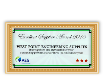 Excellent Supplier Award (2015)